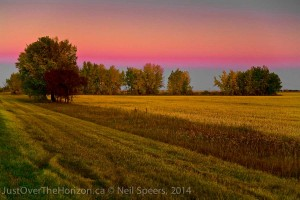 Sunset near Regina, Saskatchewan