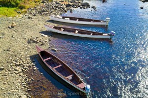 Fishing boats on the river in Newfoundland